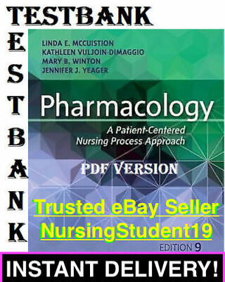 TEST BANK - McCuistion Pharmacology Nursing 9th Edition (PDF)8 *FAST SHIPPING*