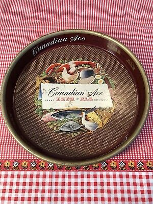 Canadian Ace Brand Beer And Ale Beer Tray Used Condition Vintage