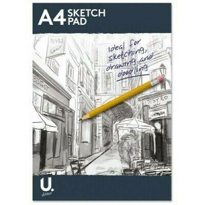 A4 100 Pages Sketch Pad Book Sketching Drawing Doodling Artist White Paper Art