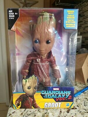"""2 WALMART EXCLUSIVE 10/"""" RAVAGER OUTFIT GROOT Marvel Guardians of the Galaxy Vol"""