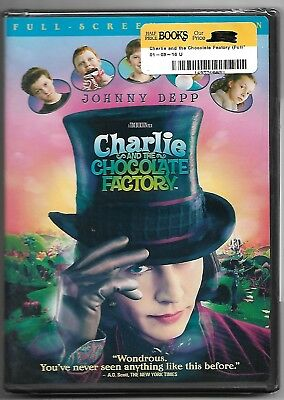 Charlie & the Chocolate Factory (Factory Sealed OOP 2005 DVD)  Johnny Depp