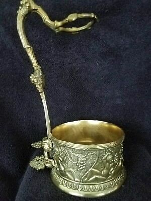 Vintage Silver Wine Caddie With Ornate Grape And Habitat Theme -Makers Mark