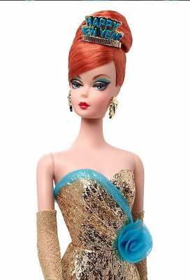 HAPPY NEW YEAR HOLIDAY HOSTESS BARBIE doll FAN CLUB EXCLUSIVE - Gold Label.
