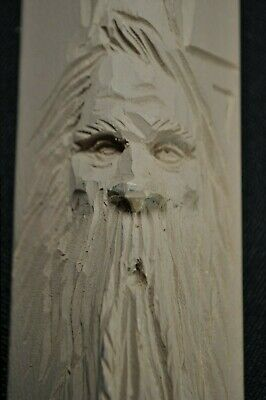 Wood Spirit Study Stick~Learn to Carve Faces~Whittling Instruction~Bill White14""