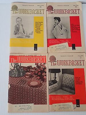 The Workbasket Magazine 4 issues from 1960 March, May, July, December