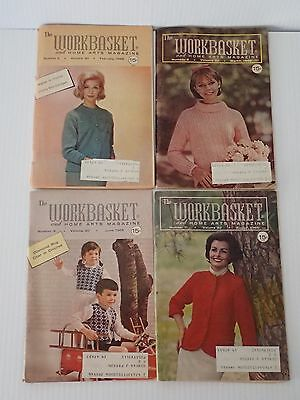 The Workbasket Magazine 4 issues from 1965 Feb, March, June, August