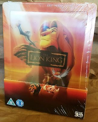 Disney THE LION KING BluRay Zavvi UK Exclusive STEELBOOK w/ Lenticular Magnet
