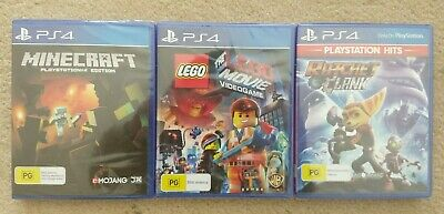 New Minecraft & The Lego Movie Game & Ratchet and Clank Playstation 4 PS4 Games