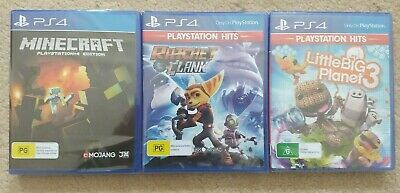 New Minecraft & Ratchet and Clank & Little Big Planet 3 Playstation 4 PS4 Games