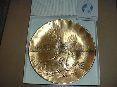 Vintage WENDELL AUGUST FORGE Bronze Plate with Bald EAGLE STACKPOLE St Marys, PA