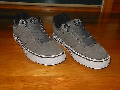 Shawn White Men/'s Suede Canvas Lace Up Athletic Shoes Sneakers Gray Orange