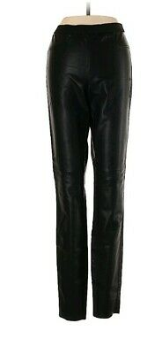BB Dakota Womens Faux Leather Stretch Waist Straight Leg Pants Black Sz 2 (K