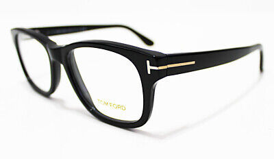 c453feb2dd887 Italy TOM FORD Men s Wide Gold Black Frame 52-17-145 Optical Eyeglasses  Glasses