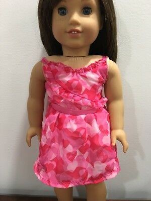 American Girl Doll Hearts Valentine's Dress Clothes Only Red Casual