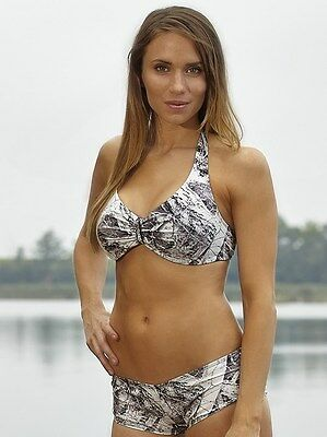 WILDERNESS DREAMS NAKED NORTH SNOW CAMO BANDEAU BIKINI TOP Clearance Item