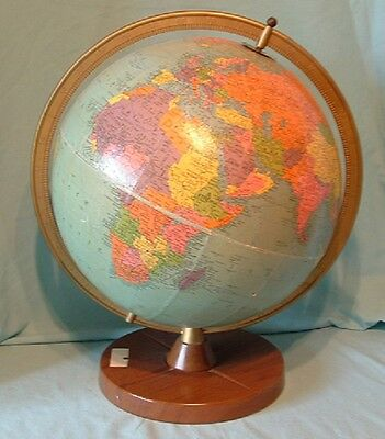 """12"""" Vintage Reference Replogle Globe with Metal Base - Chicago, IL"""