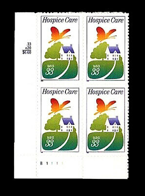 1999 Scott #3276 .33c Hospice Care - Plate Block of 4 - S/A MNH - FREE SHIP!