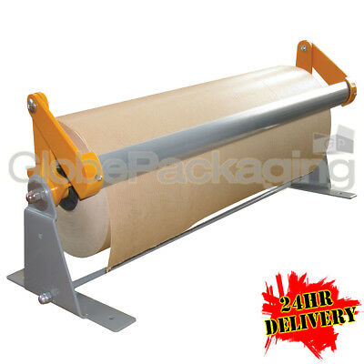 2 x 500mm KRAFT GIFT PAPER BROWN ROLL DISPENSERS FOR WALL BENCH ETC KXPD500