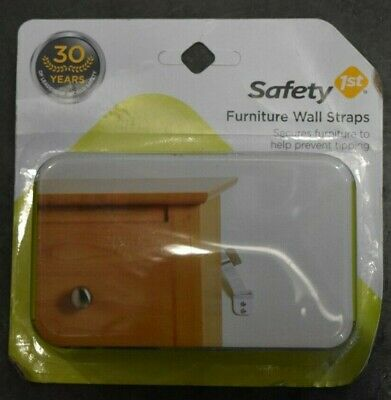 Safety 1st Furniture Wall Straps 2 Pack NIB