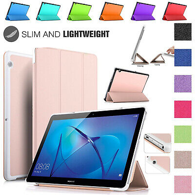 """Huawei MediaPad T3 [10] 9.6"""" 8"""" 7"""" Magnetic Flip Case Auto WakeSleep Stand Cover"""