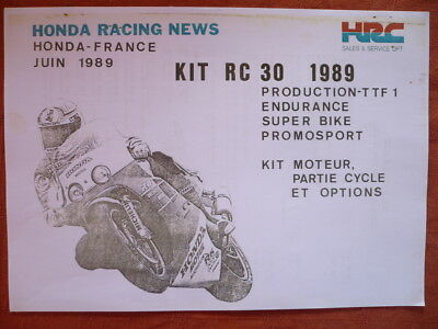 Manuel Kit Moteur Racing Honda Rc 30 1989