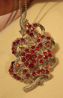 1015.35Ct Extra Large Gorgeous Natural Red Ruby Necklace In Signal Row