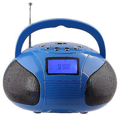 August SE20 Mini Bluetooth MP3 Stereo System Portable Radio with Powerful Blu...