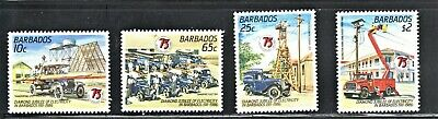 Hick Girl Stamp-Beautiful Mh.  Barbados Stamp   Sc#689-92   Electricity     L995