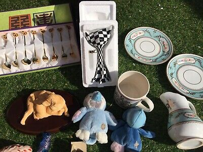 Job Lot car boot collectables Porcelain george jones wedgwood portmeirion etc