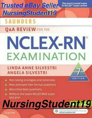 Saunders Q & A Review for NCLEX-RN Examination 7th Seventh Edition (PDF) not 5 6