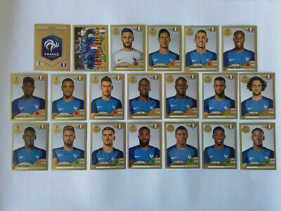 Panini Wc Coupe Du Monde 2018 20 Images Equipe Complete Set Team Gold France