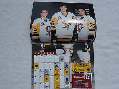 Pittsburgh Penguins Official Calender 1991~1992 Civic Arena Foodland SGA