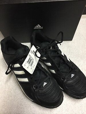 Adidas Black White Striped Low Top Football Cleats Size Sz 9.5 Medium Med M