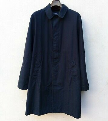 timeless design 98243 558c3 GIACCA IMPERMEABILE UOMO Trench Coat Cappotto Giaccone RALPH LAUREN Blu