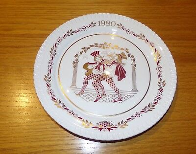 Spode China England 1980 The Eleventh Spode Christmas Plate Red and Gold