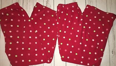 Carters Size 7 Pajama Pants Fleece Holiday Christmas Twins Lot 2 Pairs Winter