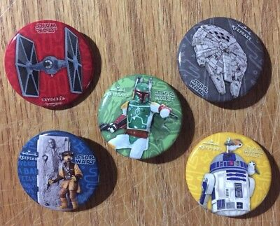 2018 SDCC Star Wars Set Limited Edition Exclusive Buttons Lot of 5