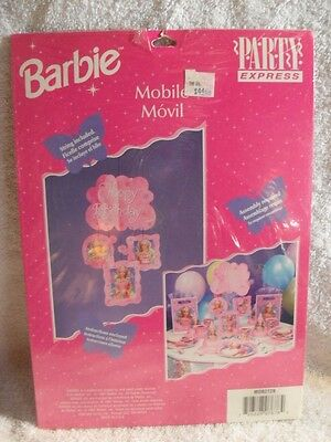 VINTAGE 90'S BARBIE Pink Hanging Birthday Party Mobile Decor Party Express  NEW