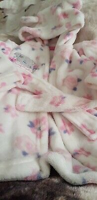 Lovely Girls Tiny Tatty Ted Hooded Dressing Gown Age 3-6 Months