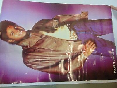 Vintage Music Poster Michael Jackson 1980s Purple Background ROLLED