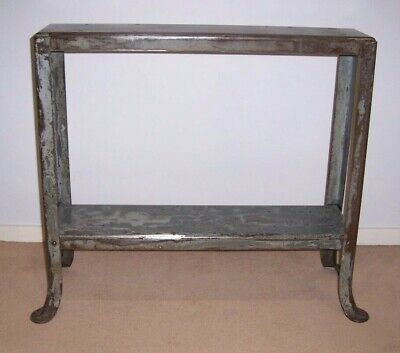 Upcycled vintage industrial steel side/end table.
