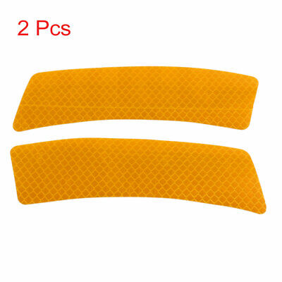2pcs Reflector Stickers Car Wheel Eyebrow Safety Warning Tape Strip Decal Orange