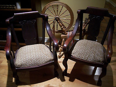 Wonderfull set of matching antique gentlemans and ladies chairs