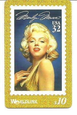 Marilyn Monroe. Phone Calling Card. Designed & Approved By Her Estate.1995.