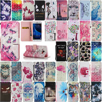 For Samsung Galaxy S9/S10 Plus Note 8/9 Leather Flip Magnetic Wallet Case Cover