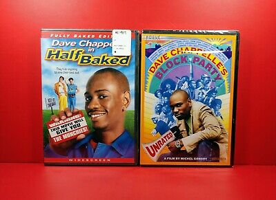 Half Baked (Fully Baked Edition) / Block Party DVD Lot  Dave Chappelle BRAND NEW