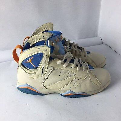 new arrival d29d3 5d0e6 NIKE AIR JORDAN VII 7 Retro Pearl White/Ceramic-Pacific Blue 304775-281 SZ  10.5