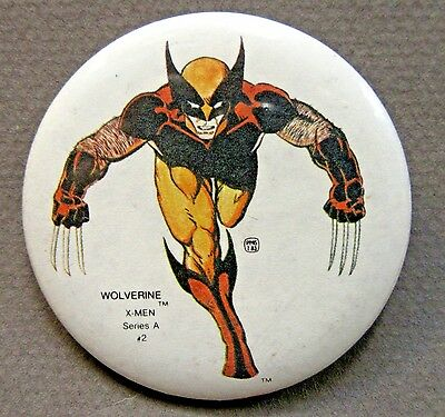 1984 WOLVERINE X-MEN Serie A #2 Mile High Comics MARVEL character pinback button
