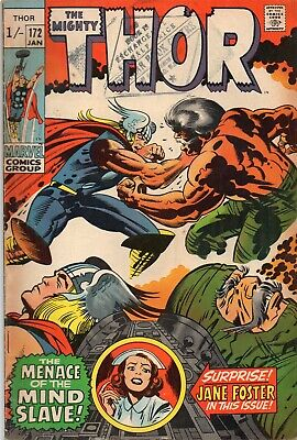 THE MIGHTY THOR #172 Jack Kirby DC Comics 1970 VG