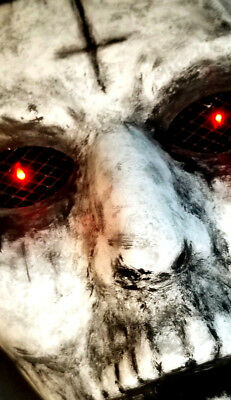 New Detailed The Purge Anarchy Handcrafted Mask with Lights LED Eyes Halloween